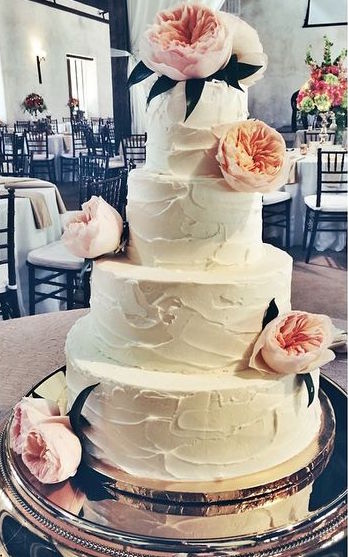 "Buttercream cake with ""stucco"" texture"