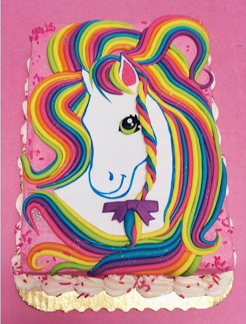 lisa frank unicorn cake
