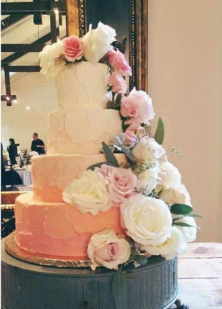 rustic wedding cake ombre