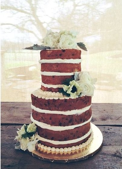 Single Tiered Naked Cake With Candied Fruit