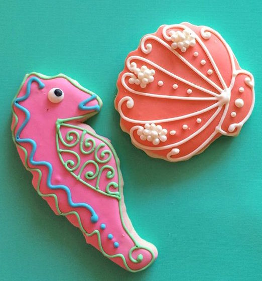 sea horse cookies