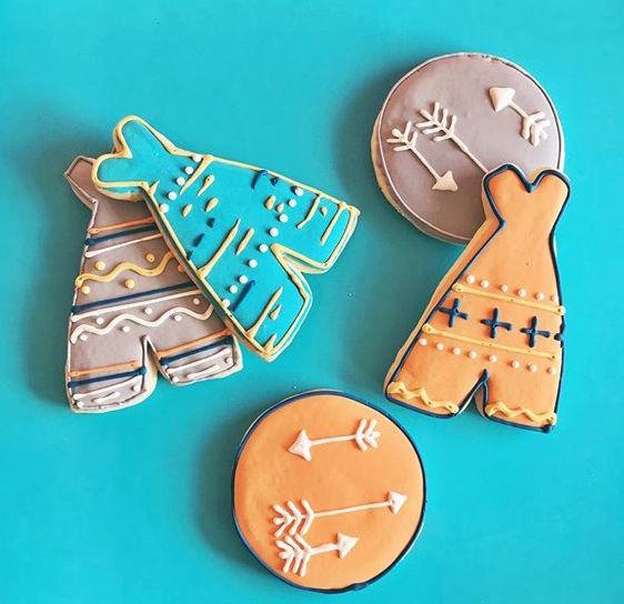teepee boho cookies