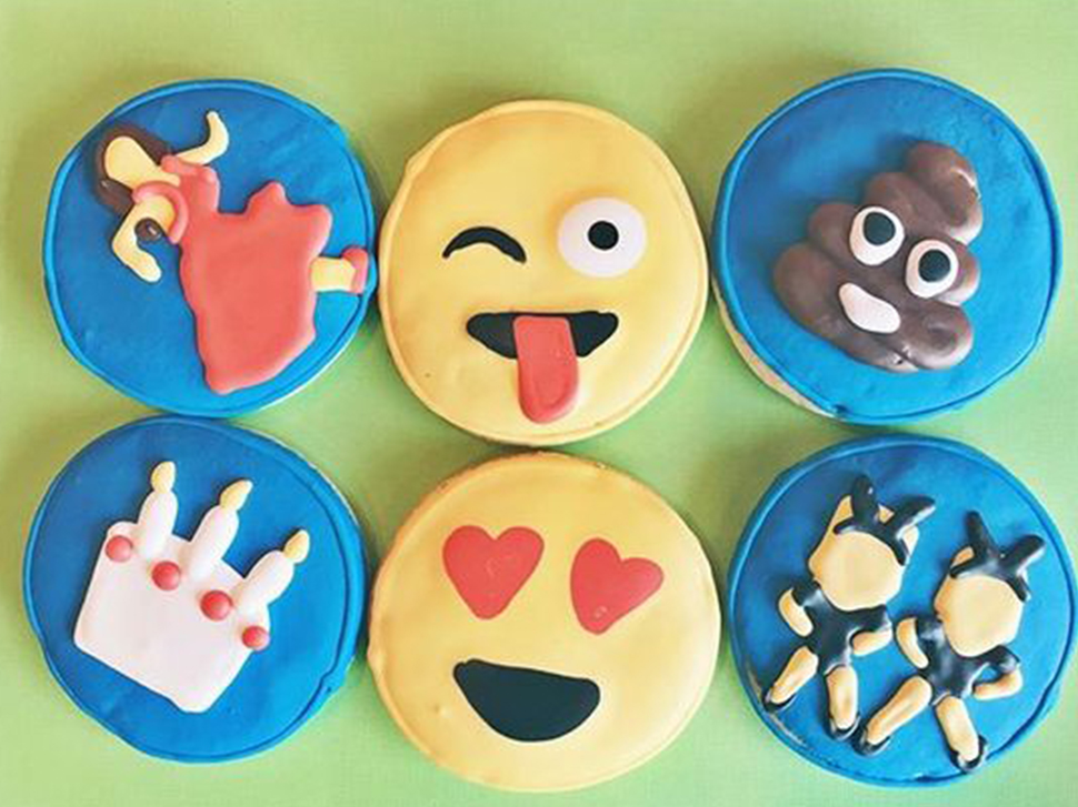 pop culture cookies emojis