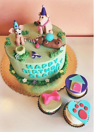 Buttercream cake with 3D fondant figurines