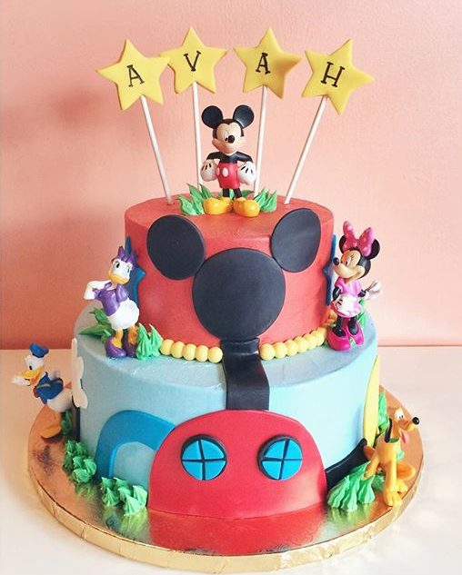 mickey mouse funhouse cake