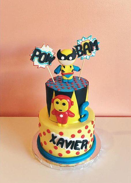 tsum tsum wolverine cake