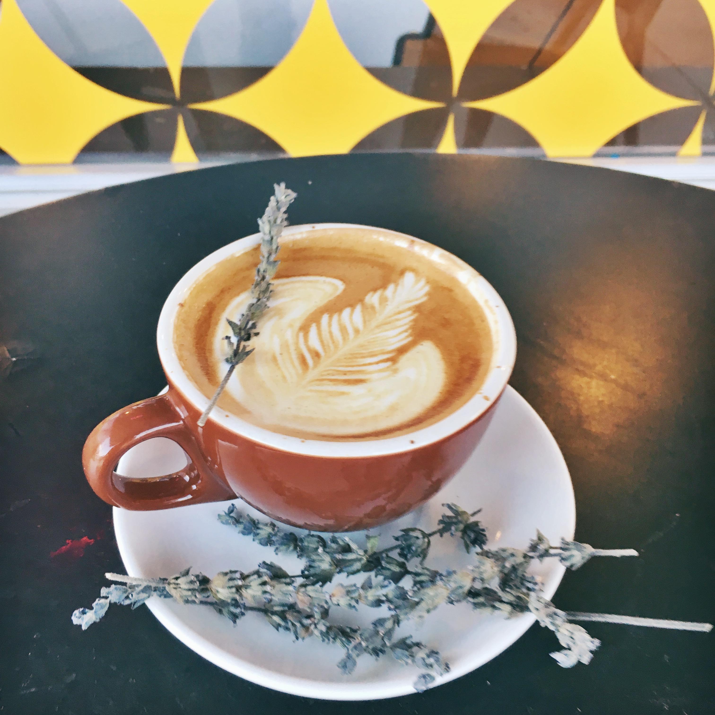 honey lavender latte