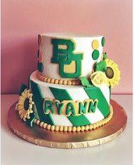 graduation cake baylor university