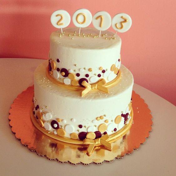 graduation cake circles