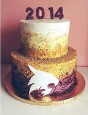graduation cake ombre
