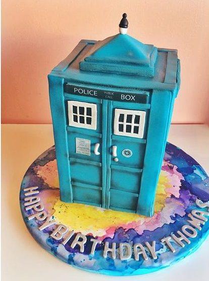 pop culture cake dr who