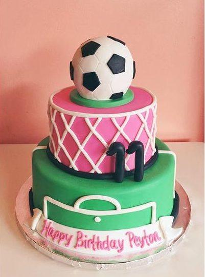 soccer cake for girl