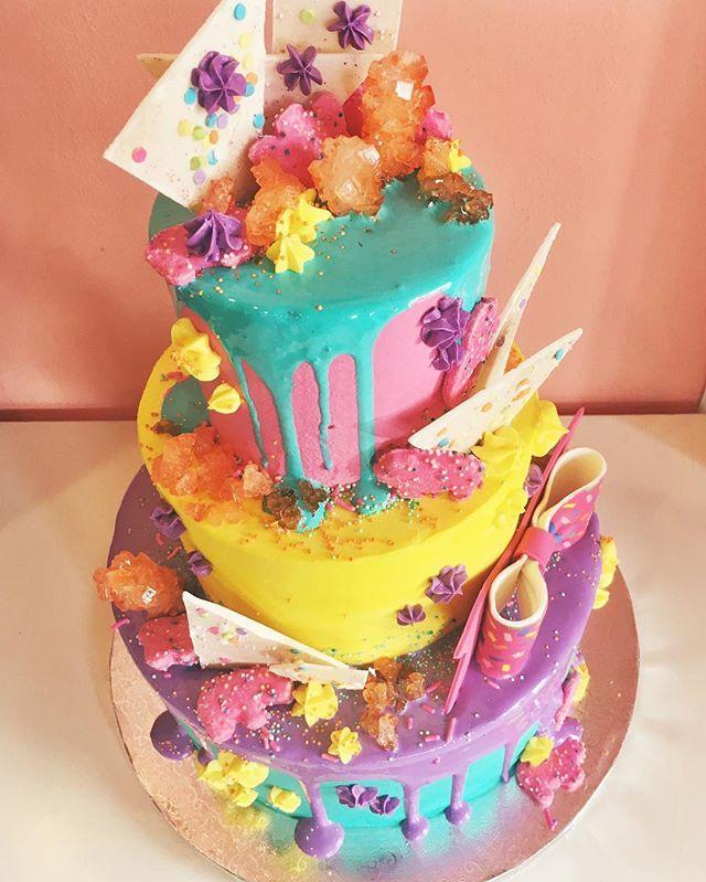 neon werks cake
