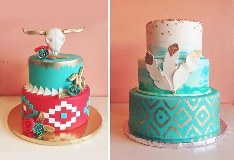 boho cakes