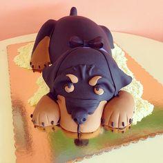 rottweiler dog cake